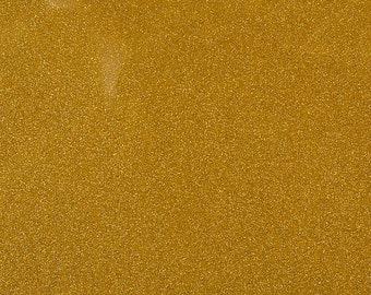 "Sparkle Glitter Vinyl Upholstery Fabric - Sold By The Yard - 54""- Gold"