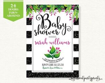 Baby Shower Invitation -PDF printable- 24 hours turnaround