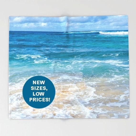 Hawaiian Beach Blanket: Ocean Fleece Blanket Ocean Throw Beach Blanket Hawaii
