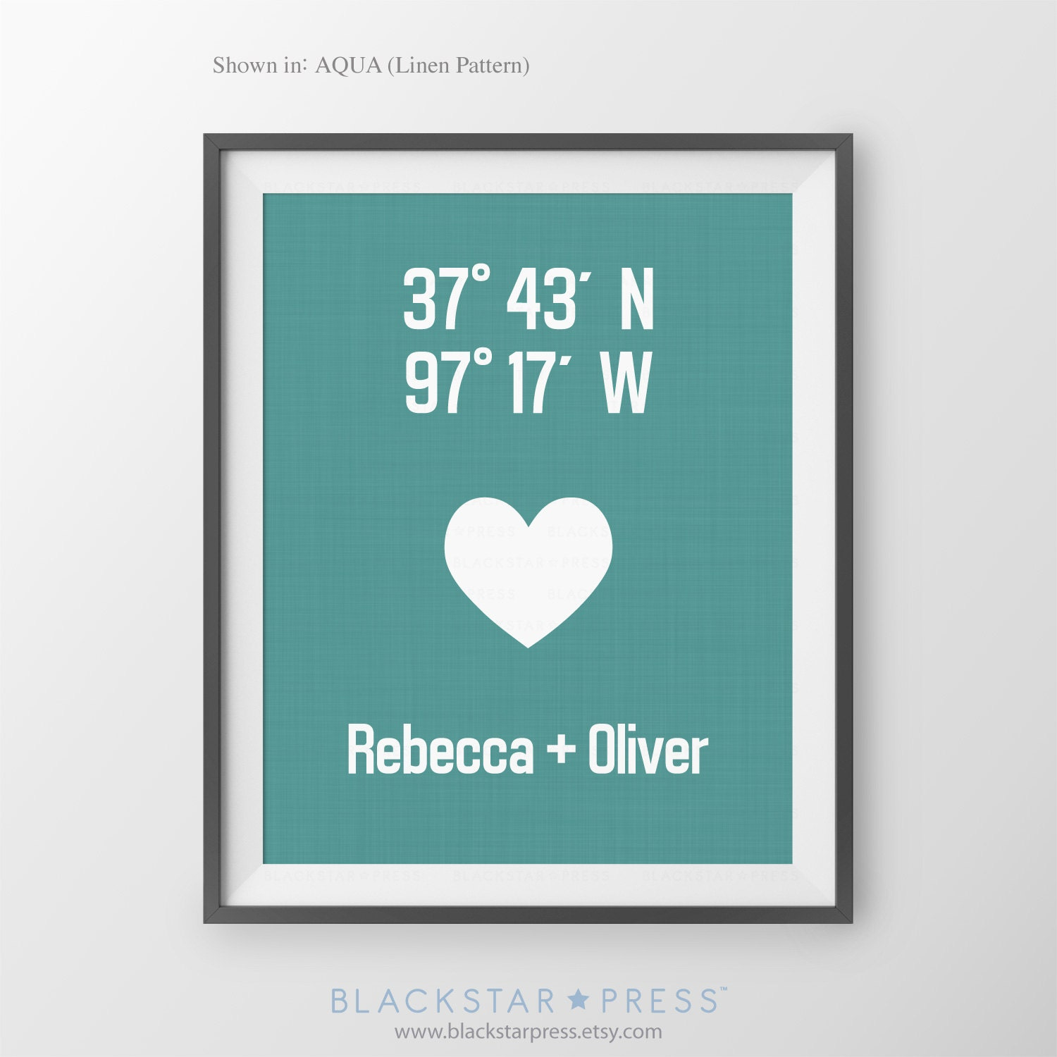 Housewarming Gift For Couple Personalized By Blackstarpress