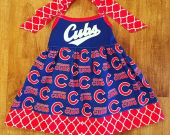 Custom Chicago Cubs Team Tunic Dress