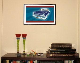 "1955 Packard Clipper 11""w x 17""h Print"