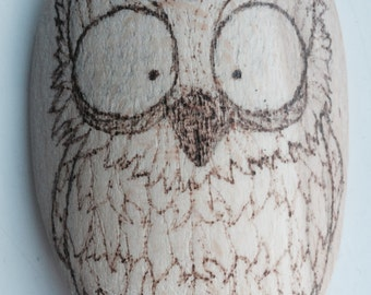 Owl Wooden Spoon Woodburning