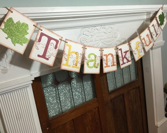 Thankful Banner, Thanksgiving Banner, Rustic Fall Decoration, Autumn Photo Prop