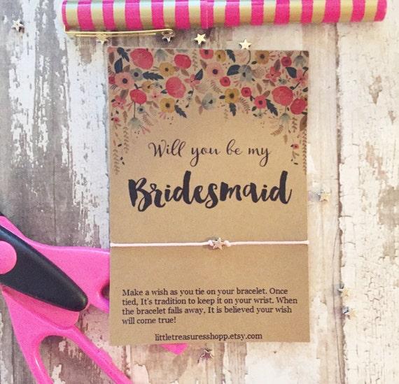 Wedding Wish Bracelet Bridal Party Wish Bridesmaid Wish