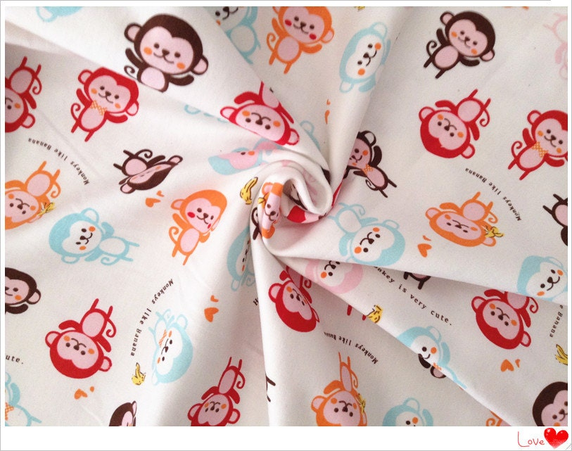 Cute monkey baby cotton fabricknitted fabric knitted for Cute baby fabric