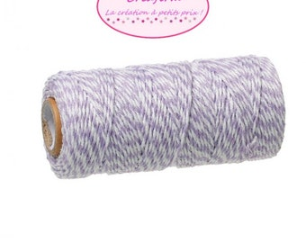 100 m coil Twine Baker's Twine Style purple and white