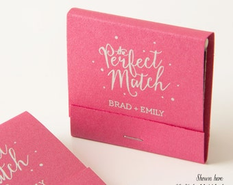 THE PERFECT MATCH w/ Polka Dots Matchbooks - Wedding Favors, Wedding Matches, Wedding Decor, Personalized Matches, Custom Matchbook Favors