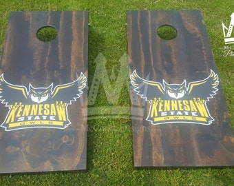 KSU cornhole boards outdoor lawn games corn hole,  Corn toss
