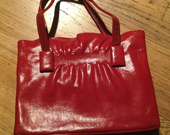 Vintage Red Patten Handbag