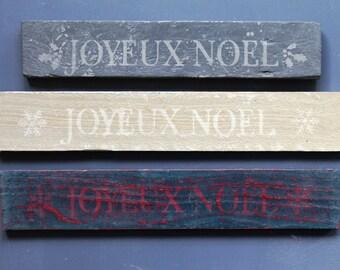 Hand-Painted Festive Placque 'Joyeux Noel'