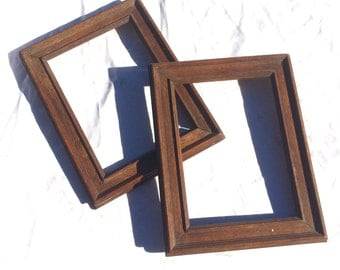 Pair of wooden frames