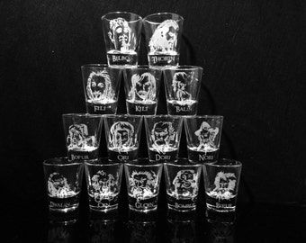 The Hobbit- Thorin and Company Complete Shot Glass set - Set of 14