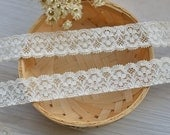 "30 meters 2cm 0.78"" wide beige embroidered stretch elastic lace trim tapes ribbon for clothes dress fabric F8F106 free ship"