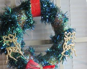 Christmas Wreath, Blue Wreath, Gold Wreath, Deer Wreath, Green Wreath, Door Wreath, Wall Wreath, Red Wreath, Multicolored Wreath