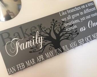 Family Birthday Board - Celebration Board-Family Birthday Board - Celebration Board - Anniversary gift - Housewarming gift -