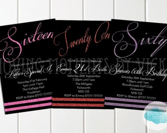 Personalised Birthday Invitations with Envelopes