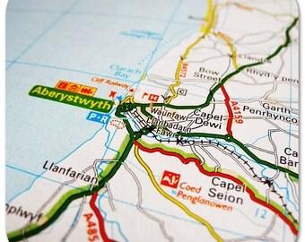 Aberystwyth Map Coasters
