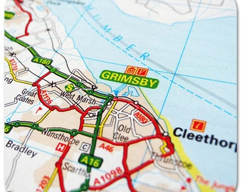 Grimsby Map Coasters