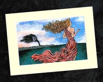 Windswept Mounted Print