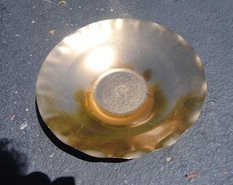 Mirro Vintage Retro Bowl Gold Metallic/Retro Decor/Aluminum Bowl