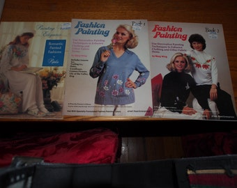 3 FASHION PAINTING BOOKS  Painting with Elegance plus book 1 & 2