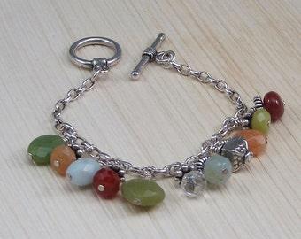 A Sunburst of color in this Multi-Gemstone Bracelet!