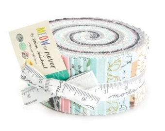 Meow or Never  by Erin Michael- Jelly Roll - for Moda Fabrics