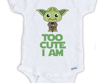 STAR WARS Cute Yoda Baby Onesie, Baby Bodysuit, Yoda Onesie, Star Wars Onesie, Star Wars Shirts, Funny Shirts, Cute Shirts, Baby Shower Gift