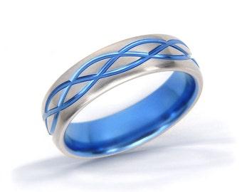 Celtic Ring, Wave Ring, Celtic Knot Ring, Mens Celtic Ring, Irish Ring