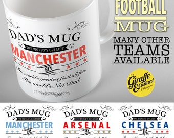Dads mug The worlds greatest Football Team supporter Fathers Day Birthday Gift Mug