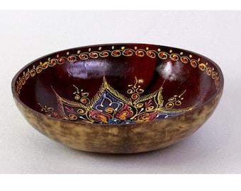 Classic Oriental Decorative Multipurpose Handmade Coconut Shell Handcraft Bowl (PC 33)
