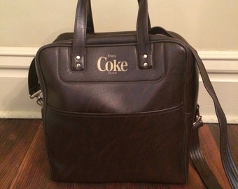 Vintage Coke Carry On Bag/Vintage Coke Bag/Vintage Coke Purse/Vintage Carry On