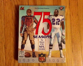 75 Seasons The History of the NFL Never Opened CD-ROM