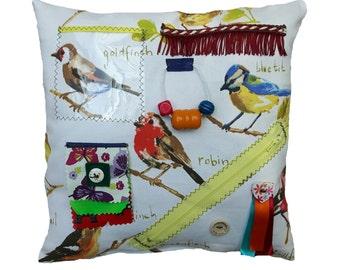 Sensory Activity garden birds Cushion -  dementia Alzheimer's aid