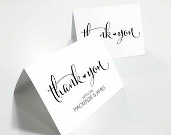 Wedding Thank You Cards, Printable Thank You Cards, Editable Thank You Cards, Personalized Thank You, Customized Thank You Cards, WBWD4