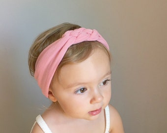 Sailor Knot Headband in DUSTY PINK Baby/Toddler Sailor Knot