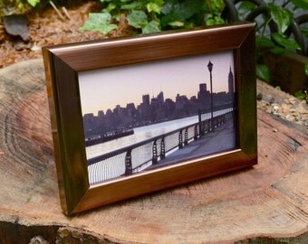 """Bright Copper 4x6"""" Picture Frame, Art, Table Top,  Home Decor, Wall Art, Easel Back"""