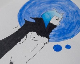 Watercolor Royal Blue - Original Art