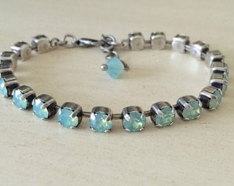 Stackables Crystal Pacific Opal Bracelet, in Antique Silver