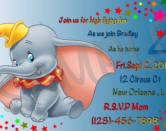 Dumbo Invitation