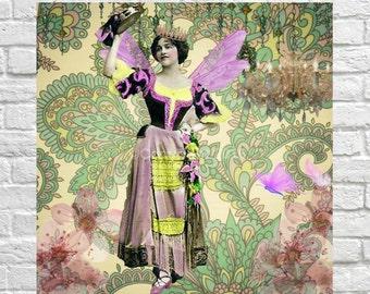 Dancer Gyspy Victorian Ephemera Vintage Original Fairy Printable Digital Collage Print Altered Art Scrapbook Page Vintage Instant Download