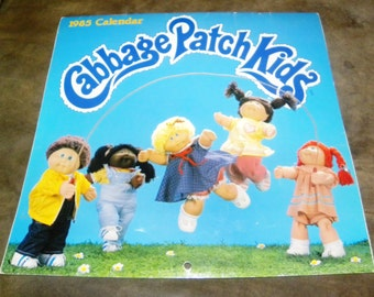 Vintage 1985 Cabbage patch kids Calendar ,in excellent condition!