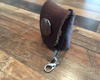 Leather Coin Purse Keychain Lanyard Edition