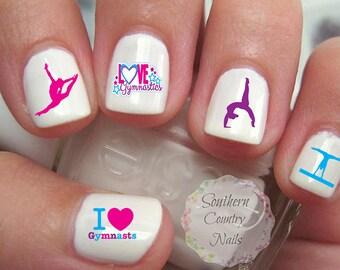 Gymnastics 5 Nail Art Decals