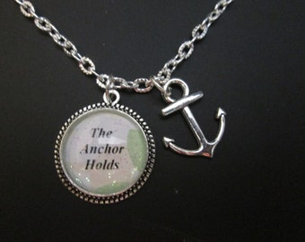 The Anchor Holds necklace, faith religious inspirationals necklace. #9546z