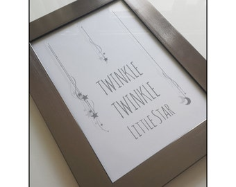 Instant digital download Twinkle Twinkle nursery print