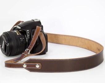 Camera Strap, Leather Camera Strap, Personalized Camera Strap, Horween Dublin Camera Strap