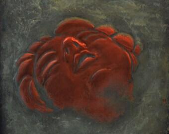 ECSTACY, metal wall art, copper wall art, repousse', copper repousse'