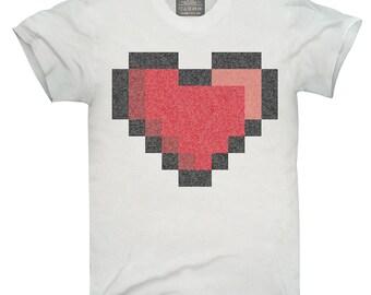 Pixel Heart 8 Bit Love T-Shirt, Hoodie, Tank Top, Gifts